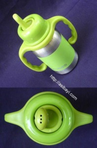 organickidz spout and handle in use