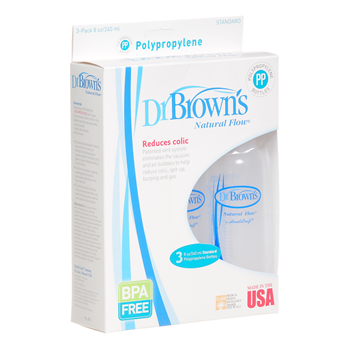 dr browns bpa-free plastic bottles 3x240ml
