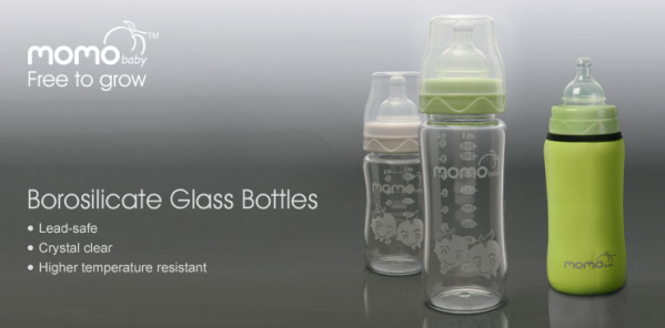 Momo Baby Borosilicate Glass Baby Bottle
