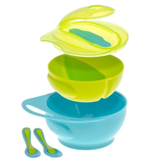 Brother Max Easy Hold Weaning Bowl Blue-Green