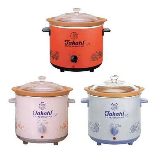 takahi slow cooker 1.2L all color