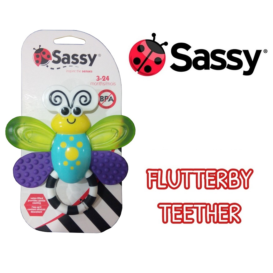 Sassy Flutterby Teether 3M+