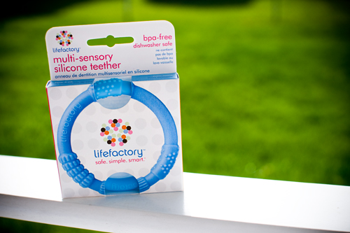 lifefactory multi-sensory silicone teether