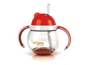 momma straw cup red