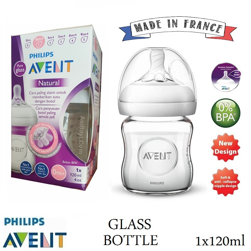 Philips Avent Natural Glass Baby Bottle 2.0 120ml