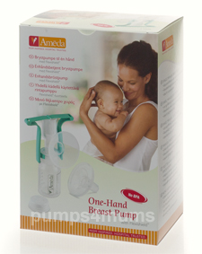 ameda one-hand manual breastpump packaging