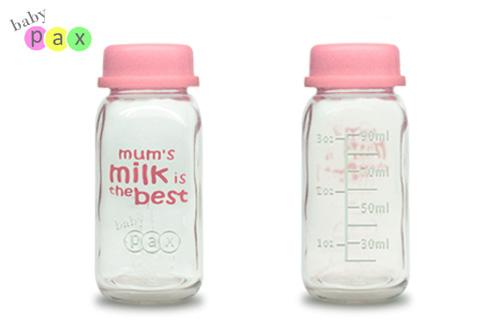 babypax breastmilk glass botte 90ml