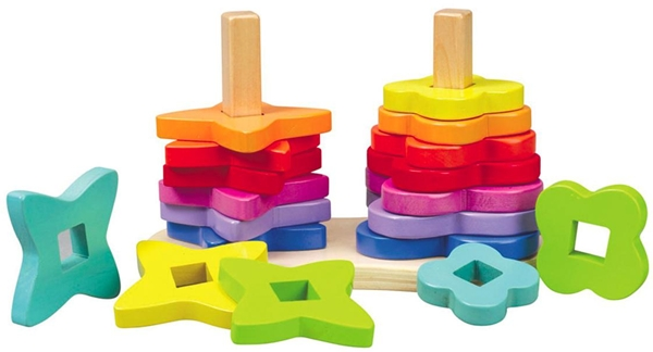 hapetoys double rainbow stacker 3