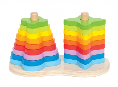 hapetoys double rainbow stacker 4
