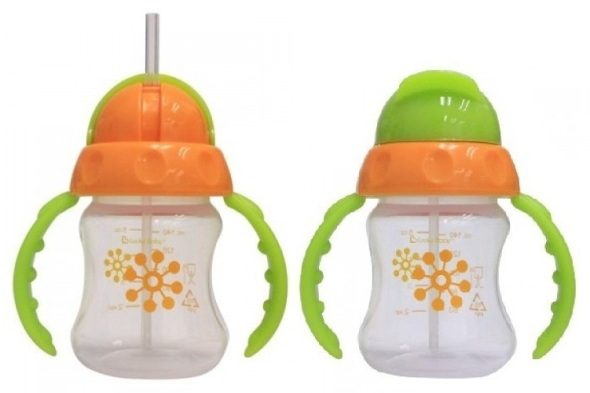 lucky baby sapee straw cup ORANGE