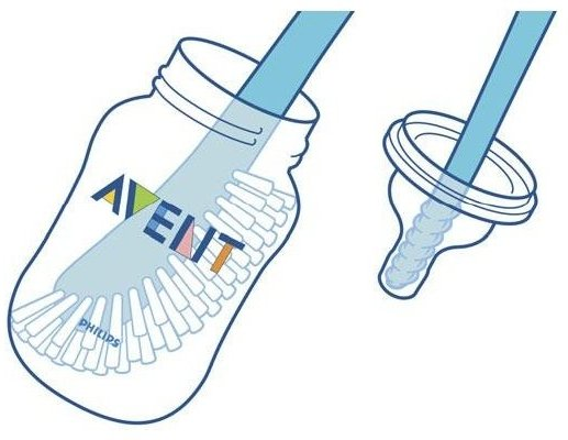 Philips AVENT BPA Free Bottle Brush (use)