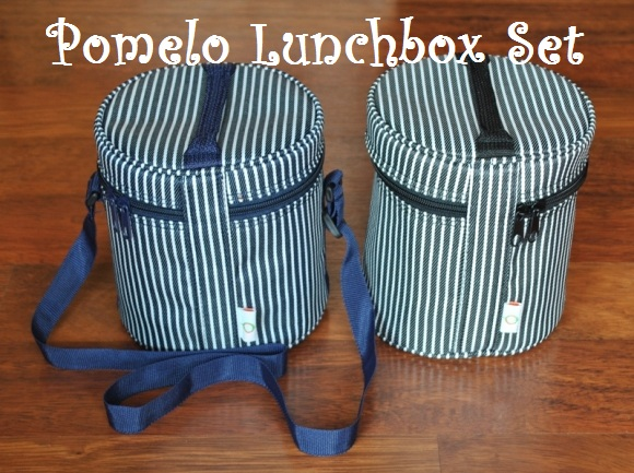 Pomelo Lunchbox Blue and Black