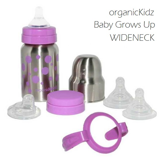 OrganicKidz Baby Grows Up WIDENECK Purple
