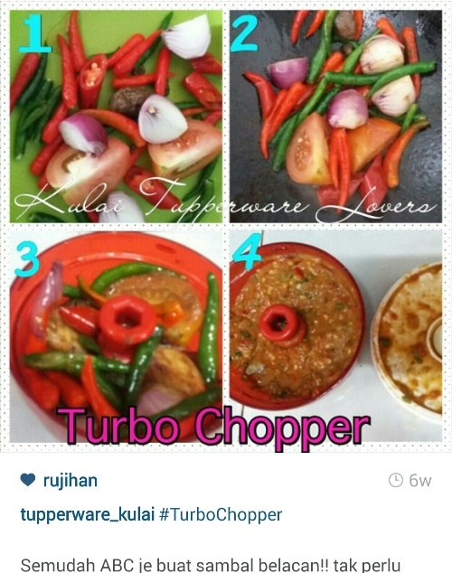 Tupperware Turbo Chopper Sambal