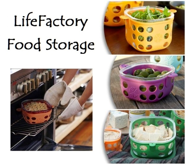 Lifefactory Glass Food Storage Containers