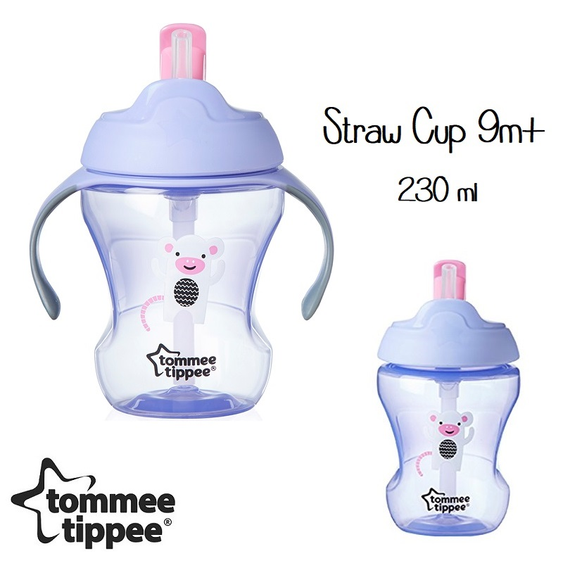 Tommee Tippee Straw Cup 230ml Purple