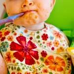 Lucky Baby Stylo Eezee Clean Bib / Celemek Makan Bayi