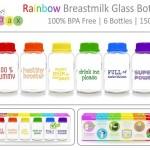 BabyPax Rainbow Botol ASI Kaca