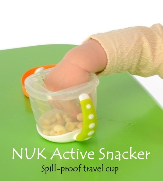 nuk active snacker, spill-proof travel cup