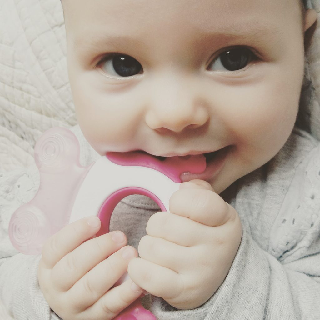 tommee tippee easy reach teether stage 2 in use