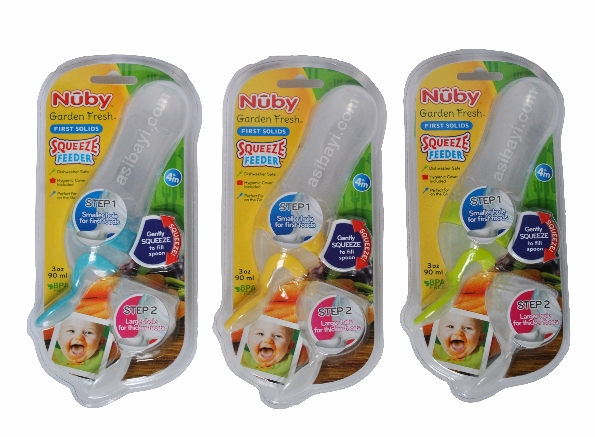 nuby squeeze feeder all color