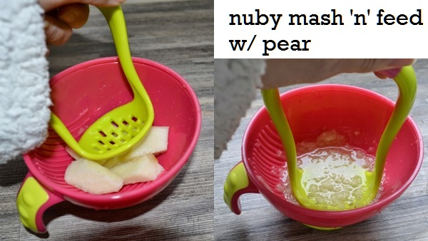 Nuby Mash N Feed use with pear