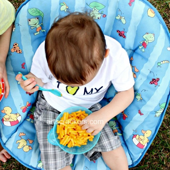 Nuby Easy Go Suction Bowl and Spoon Outside