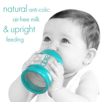 bare bottle upright feeding