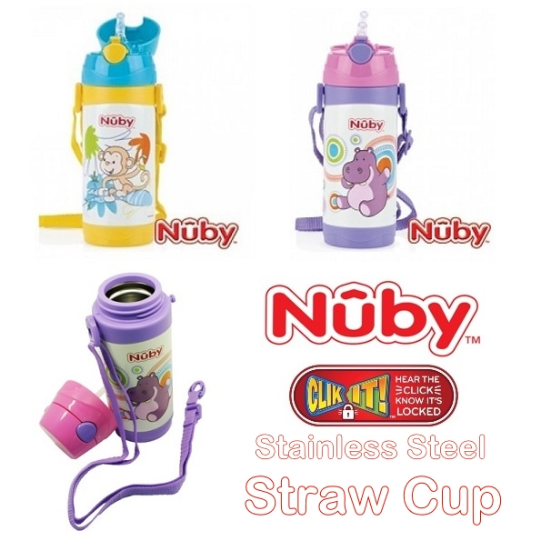 Nuby Clik It Stainless Straw Cup All
