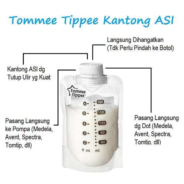 tommee tippee kantong asi express & go