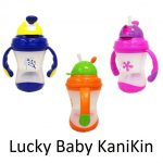 Lucky Baby KaniKin, Twin Handle Straw Cup