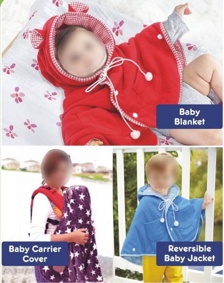 Cuddleme Baby Cape in use
