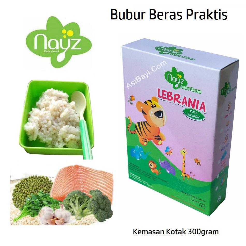 Nayz Bubur Beras Bayi Organik Kotak 300 gram Lebrania Salmon
