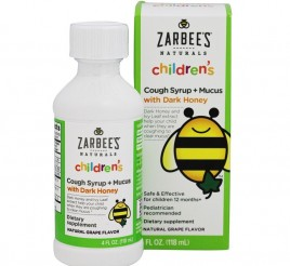 Zarbee's Naturals Childrens Cough Syrup + Mucus with Dark Honey