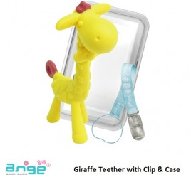 Ange Giraffe Teether with Clip and Case