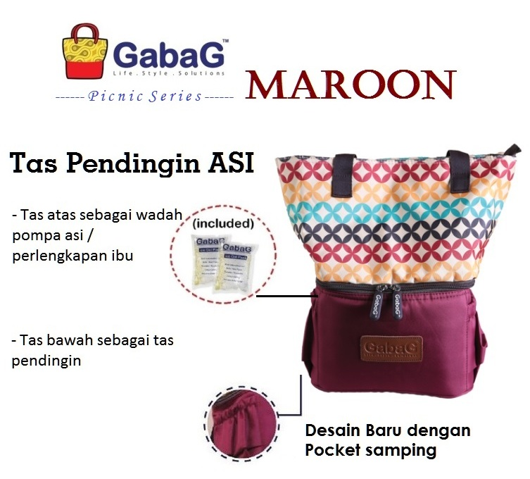 Gabag Maroon Coolerbag