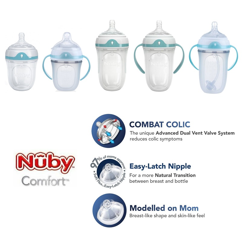 Nuby Comfort Silicone Bottle