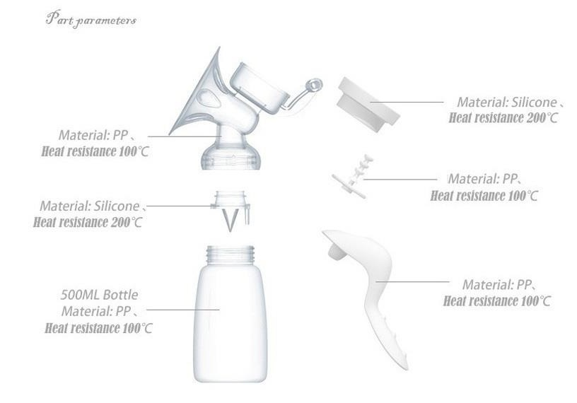 Real Bubee Manual Breastpump Part