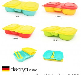 Dearya FLIP FLOP DY1403 Lunch Box with Fork Spoon