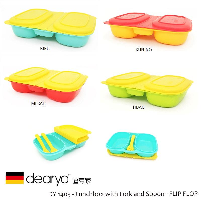 Dearya FLIP FLOP DY1403 Lunch Box with Fork Spoon