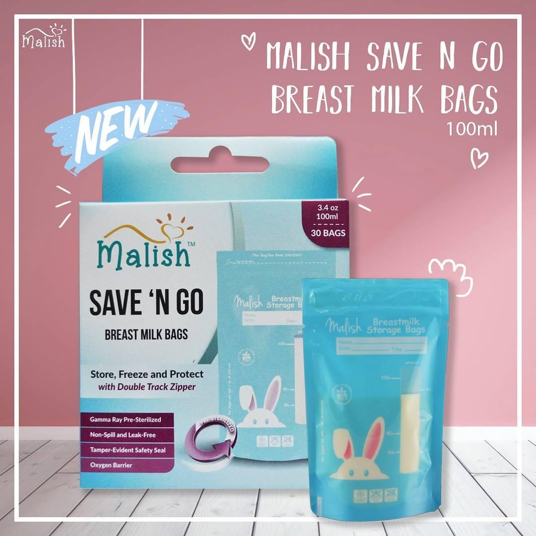 Malish Kantong Asi Save N Go Breatmilk Bags Gabag Milk Storage 30pc