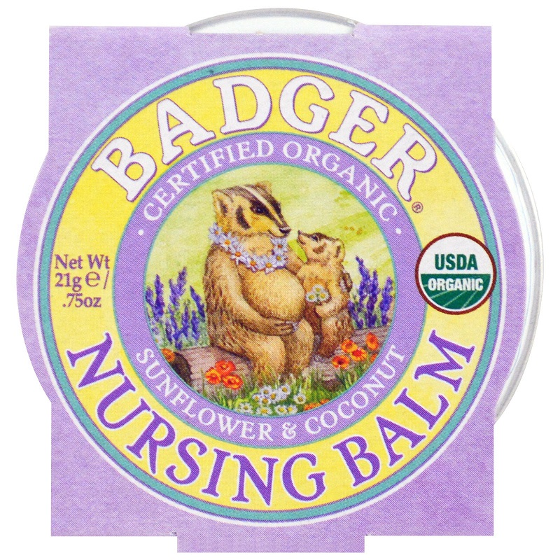 Badger Nursing Balm Organic Sunflower & Coconut - 0.75oz