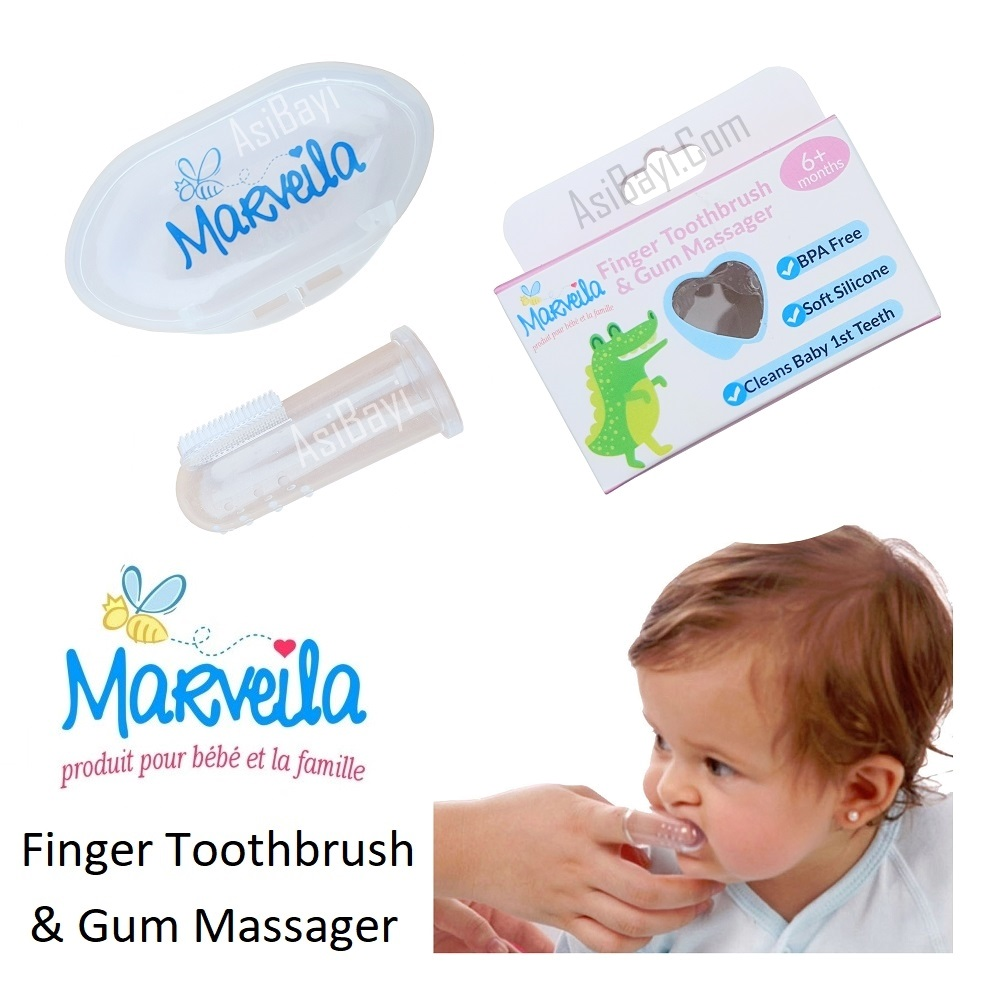 Marveila Finger Toothbrush and Gum Massager