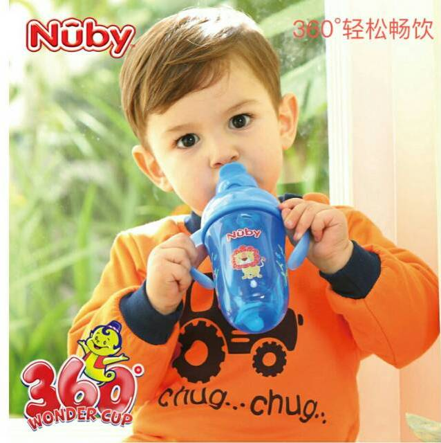 Nuby Comfort 360 Plus Flip it Straw in Use
