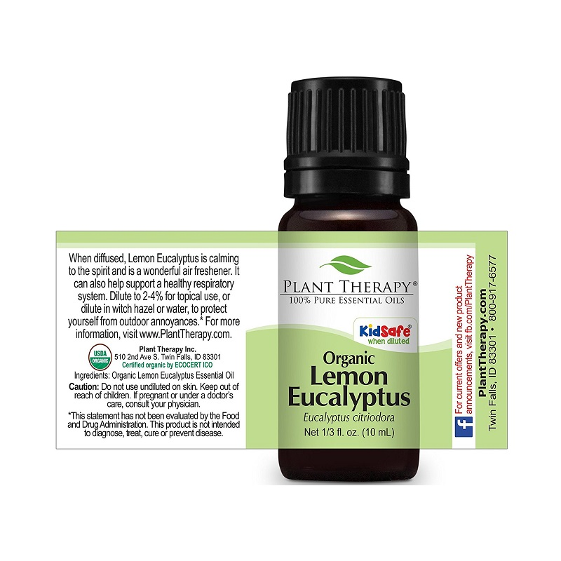 Plant Therapy Organic Lemon Eucalyptus 10ml