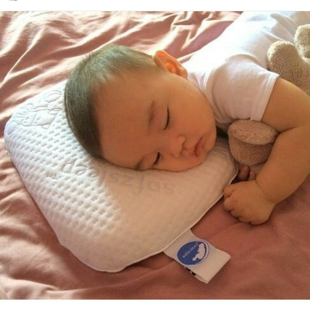 SofzSleep Donut Baby Pillow (in use)