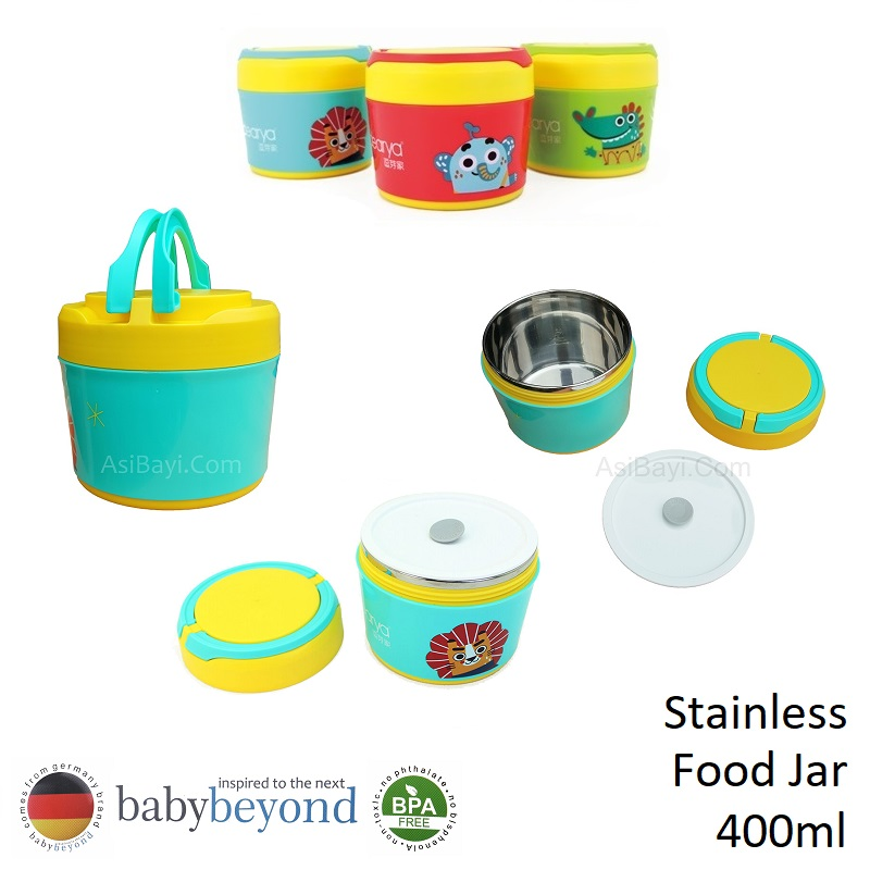 Baby Beyond Food Jar Stainless 400ml with Handle (1)