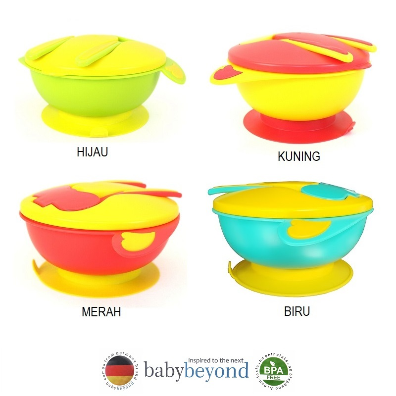 Baby Beyond Non Skid Big Bowl with Fork and Spoon Set (1)