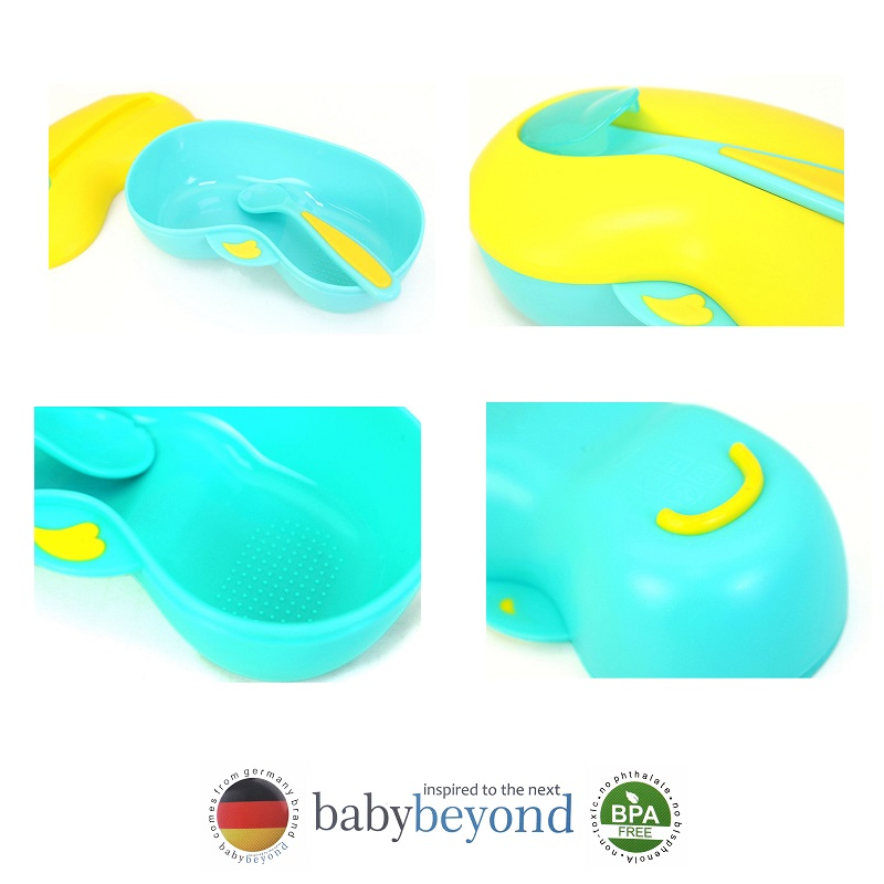 Baby Beyond Non Skid Grinder Bowl with Spoon