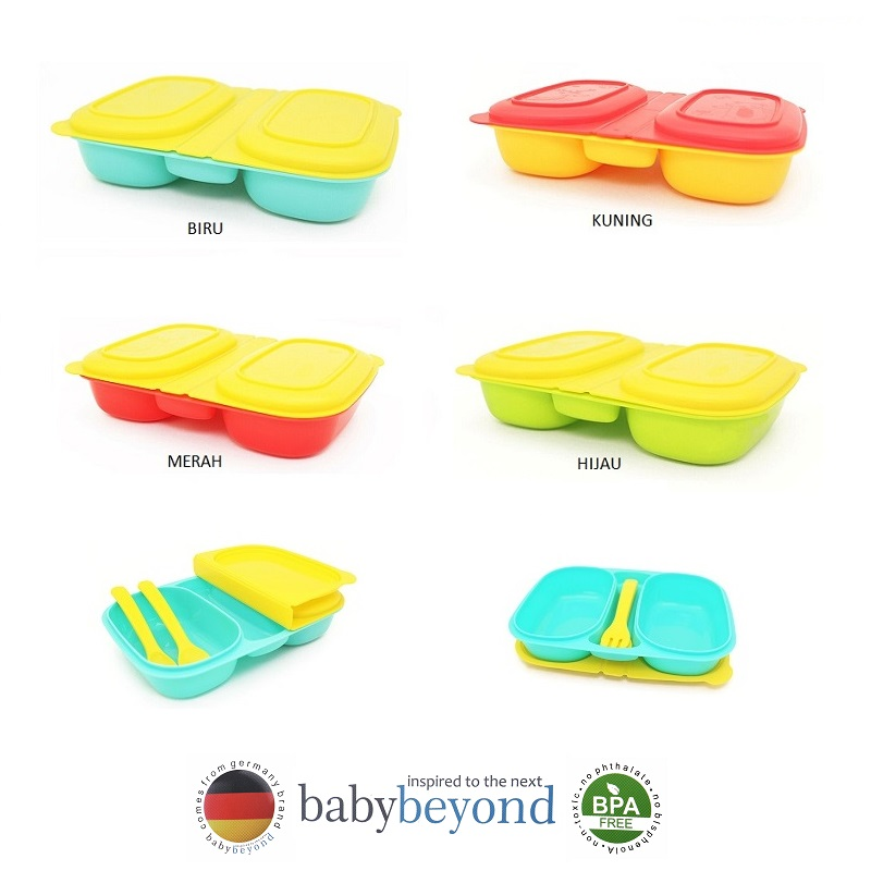 Baby Beyond Dual Bento Box with Fork and Spoon (1)